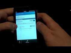 Adding Email Accounts in BlackBerry 10