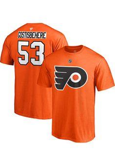 25089729a76 Shayne Gostisbehere Philadelphia Flyers Mens Orange Name & Number Short  Sleeve Player T Shirt - 17257321