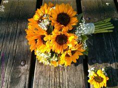 svadobná kytica zo slnečníc - Hľadať Googlom