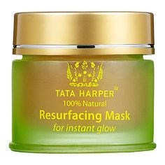 Tata Harper Resurfacing Mask: This easy-to-use mask enhances the skin's radiance by eliminating dull and blemished skin cells and reducing the appearance of pores. Witch hazel reduces inflammation with its strong antioxidant properties and beet extract promotes hydration in the outer layers of the skin to help increase elasticity. Skin is left soft, refreshed, and glowing.