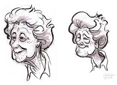 The Ol' Sketchbook: Little Old Ladies Cartoon Grandma, Old Lady Cartoon, Old People Cartoon, Comic Drawing, Cartoon Drawings, Drawing Sketches, My Drawings, Indian Drawing, Character Art