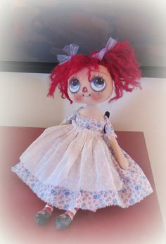 Hand painted Raggedy Ann by suziehayward on Etsy, $85.00