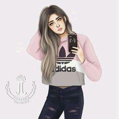 Even newer me! Girly M, Girly Girl, Tumblr Drawings, Girly Drawings, Cute Girls, Cool Girl, Sarra Art, Chica Cool, Cute Girl Drawing