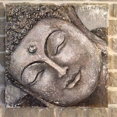 Pair Large Blending Fireplace in Burnished Brass Style Buddha 50 x 40 cm