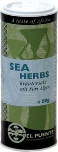 """Sal marina con algas. Peso: 80 gr. Bote de sal marina de Sudáfrica con algas marinas para reforzar el sabor """"a mar"""" que desprende. Ideal para pescado."""