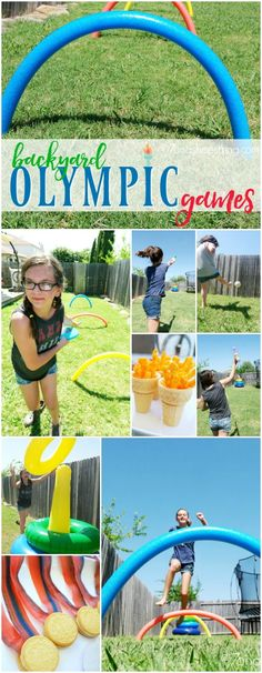 Fun Activities for Children :: Host Your Own Backyard Olympics via Salazar (Our Family Lifestyle) Does your family enjoy a little friendly competition? Host your own backyard children games for fun summer activities games for kids to play outside. Olympic Games For Kids, Activity Games For Kids, Summer Camp Activities, Outdoor Activities For Kids, Fun Activities, Outdoor Games, Activity Days, Outdoor Play, Summer Camp Games