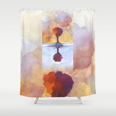 As Above So Below  No15 Shower Curtain by Marina Kanavaki - $68.00 Gifts For An Artist, Curtains, Shower, Prints, Painting, Rain Shower Heads, Blinds, Painting Art, Showers