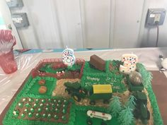 Farm boy birthday cake by Debbie tabora