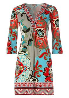 Hale Bob Garden Party 3/4 Sleeve Dress ~ I love this print! This dress is very me.