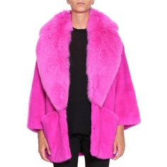 Blancha Mink fur ($10,065) ❤ liked on Polyvore featuring outerwear and fuchsia