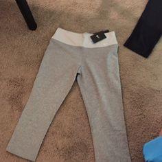 Nike crop dri-fit pants Gray, size M ...willing to negotiate price Nike Pants