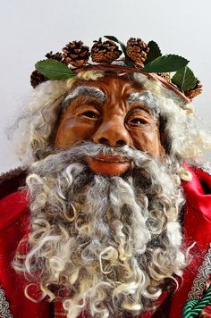 African American Santa Claus A One Of Kind By People On Etsy