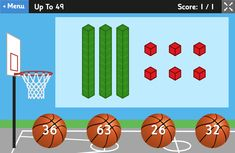Place Value Basketball - Dienes Game for 5 to 8 Year Olds