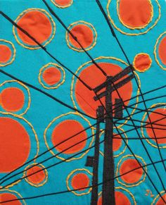 ORIGINAL, Sunspots with Telephone Pole, 8x10inch