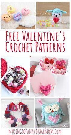 More than 20 Free Valentine's Day themed Crochet Patterns Valentine Cupid, Valentine Day Wreaths, Valentine Day Love, Valentines, Crochet Wreath, Crochet Box, Free Crochet, Letter Patterns, Free Pattern