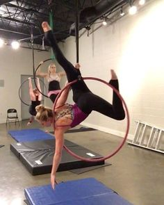 "397 Likes, 11 Comments - Kelly Goldston (@k_james) on Instagram: ""Some new moves that @branditakesflight taught us tonight @moxiemischiefaerial #lyra #lyrahoop…"""