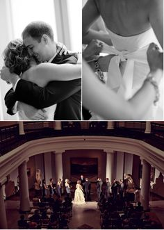 Ann Arbor Art Gallery Wedding from Jessica Johnston | Style Me Pretty