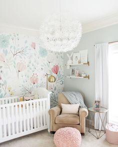 "557 Likes, 12 Comments - Bethany Gardner (@thispaperbook) on Instagram: ""There's no sign of Spring outside, so bringing it here with this beautiful nursery spotted on…"""