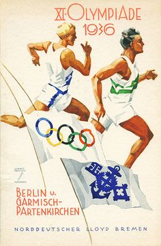 1936 Olympics Poster      Flyer Goodness: Vintage German Ads by Ludwig Hohlwein