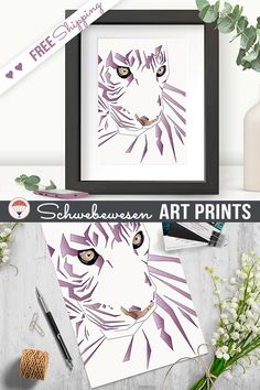 ♥ MATERIAL: High Quality Fine Art Print Extra Strong - 300 gsm paper Finish: Matte (non-glossy) Vibrant colours, great contrast All art prints are professionally printed in Germany