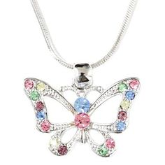 Butterfly Charm Pendant Comments, comments, comments, that is what you will get wearing this pendant. Butterfly Gifts, Butterfly Jewelry, Fashion Jewelry Necklaces, Bling, Pendants, Pendant Necklace, Jewels, Chain, Butterflies
