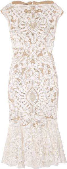 Alexander McQueen- Crochet Embroidered Silk Organza Dress. Perfect for an all white occasion