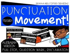 FREEBIE - Punctuation Movement Interactive Game Punctuation Games, Classroom Freebies, Classroom Ideas, Full Stop, First Grade Writing, School Tool, Kindergarten Reading, Future Classroom, Grammar