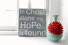 In Christ Alone  12x12 CAFE MOUNT by redletterwords on Etsy, $55.00