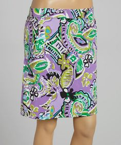 Another great find on #zulily! Island of Purple Paisley Skort by B-Skinz #zulilyfinds