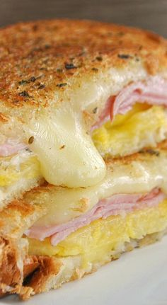 Try using Martin's Potato Bread for this Hawaiian Grilled Cheese!