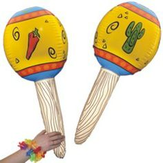 Fiesta Maraca 32'' Inflatable from Windy City Novelties  http://www.windycitynovelties.com/210956p/fiesta-maraca-32-inflatable.html