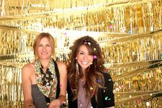 brides of adelaide magazine photobooth backdrop DIY...could use grass stuff from luau decor