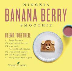 Ningxia Banana Berry Smoothie