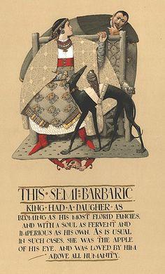 "Alexander Mikhnushev       Illustration for the book ""The Lady or The Tiger"" Grimm Press"