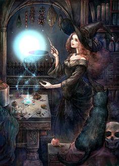 Witchcraft, Perna studio promo card, by Juri H. Chinchilla.