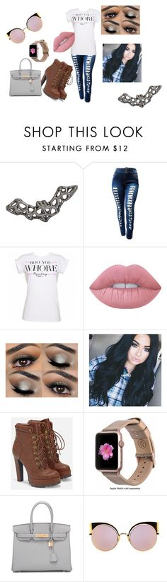 """Boo costumes"" by dariah3412 on Polyvore featuring Lime Crime, JustFab, Monowear, Hermès and Fendi"