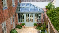 lean to Garden room Conservatory Windows With Beautifu. - lean to Garden room Conservatory Windows With Beautifu… - What Is A Conservatory, Conservatory Kitchen, Conservatory Design, Orangery Conservatory, Victorian Conservatory, Kitchen Extension Garden Room, Cottage Extension, Orangerie Extension, Conservatory Extension