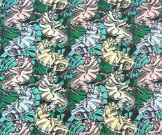 "Farbwechsel Baumwolljersey Stoff Chamäleons grün ""UV Jersey Chamäleon "" Magic/Magisch Druck UV Farbwechsel Baumwolljersey mit Chamäleons in Tarnfarben Schmuck Design, City Photo, Camo Colors, Hot Pink Fashion, Printing, Handmade, Creative, Cotton"