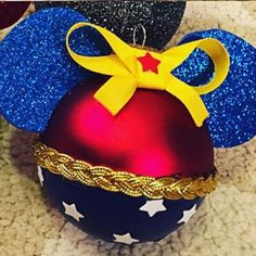 Minnie Mouse Wonder Woman Ornaments