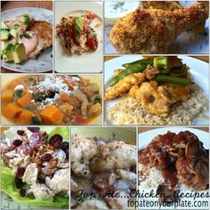 Healthy Chicken Recipes from topateonyourplate.com