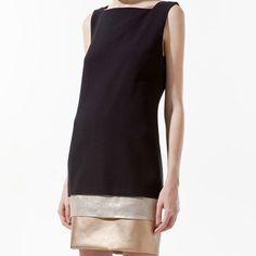 Panelled Dress, £39.99, Zara