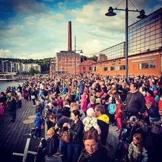Midsummer at Lahti Harbour. Follow on Instagram #sibeliustalo
