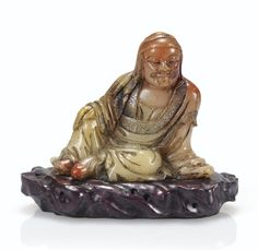 A small soapstone figure of a reclining scholar, century Soapstone, 18th Century, Antique Jewelry, Modern Art, Auction, Carving, Antiques, Prints, Mineral