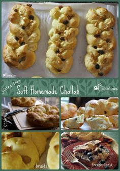 Gluten Free Challah collage - gfJules.com