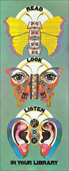 National Library Week poster, c1968 by MewDeep on Flickr.