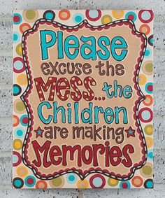 Look at this #zulilyfind! 'Please Excuse the Mess' Gallery-Wrapped Canvas by Glory Haus #zulilyfinds