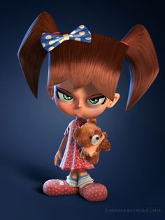 Grumpy kid by Bhairab Boithoque | Cartoon | 3D | CGSociety