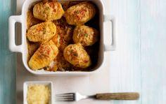 Hasselbackan perunat uunissa - juustoksi sopii grana padano ja korppujauhot voi unohtaa!