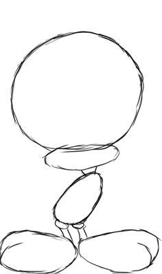 how to draw tweety bird