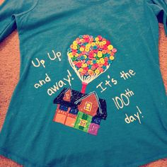 100th day of school t-shirt. Disney Up.